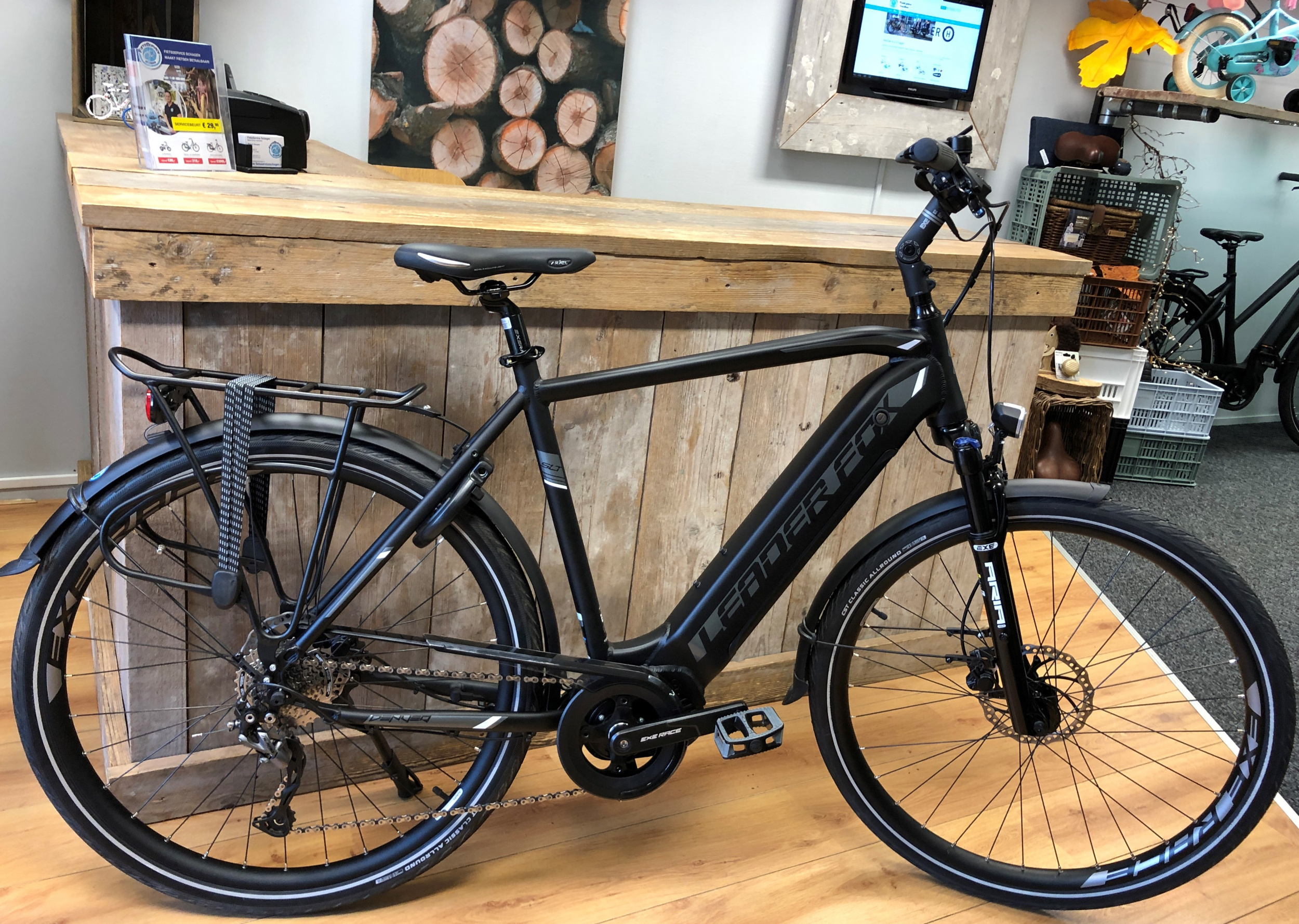 Leader Fox E-Bike Denver heren 8V met middenmotor