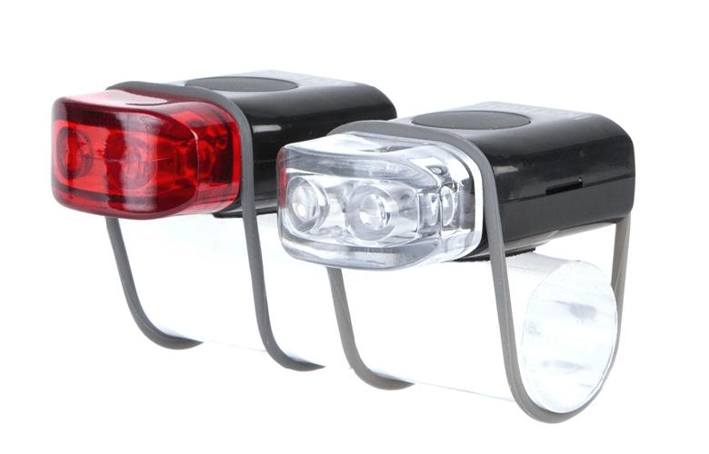 IKZI-Light Stripties LED set elastiek bev. zwart/grijs