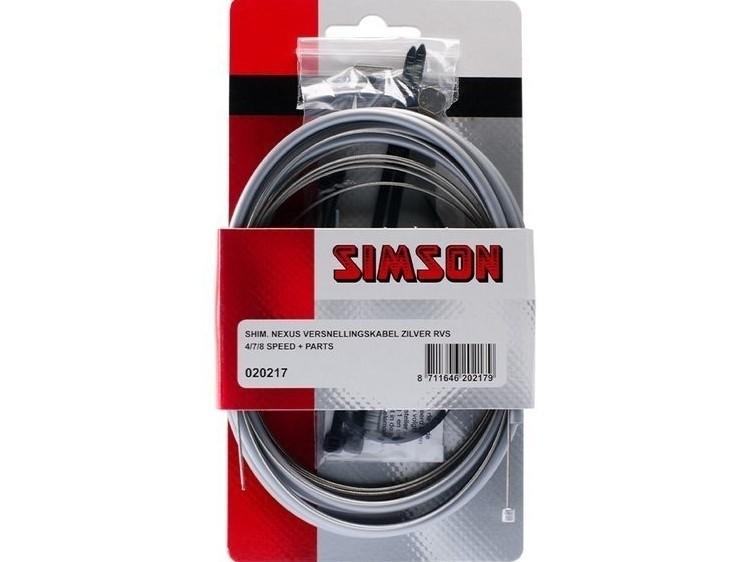 020217 Simson Versnellingskabelset Shimano Nexus grijs