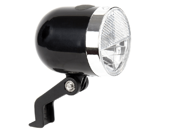 IKZI-Light Retro Koplamp NERO zwart 10 lux batterij