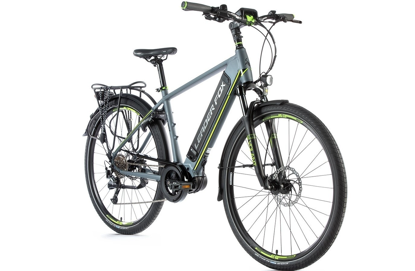 Leader Fox E-Bike Denver heren 8V model 2019 met middenmotor