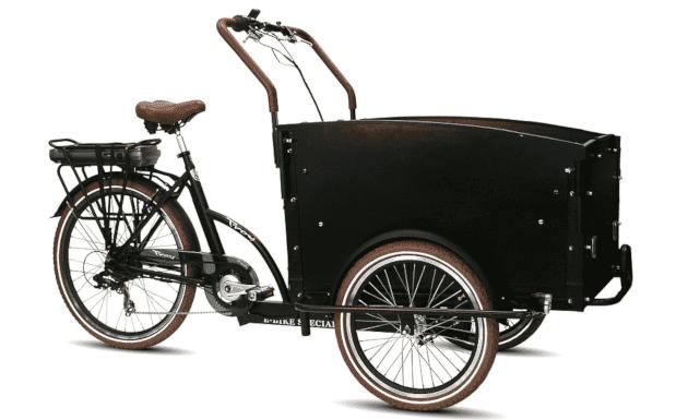 Vogue E-Bike Bakfiets Troy 7V drie wielen met achterwielmotor