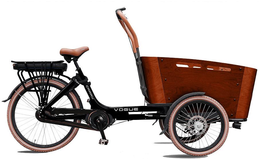 Vogue E-Bike Bakfiets Carry 7V drie wielen met middenmotor