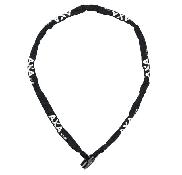 AXA kettingslot met sleutel 120cm/3.5mm in hoes zwart