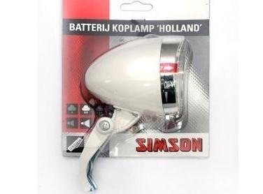 020772 Simson Batterijkoplamp Holland wit 3 LED