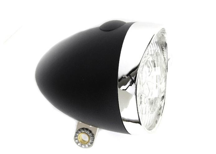 IKZI-Light Retro batterijen 3xLed koplamp zwart
