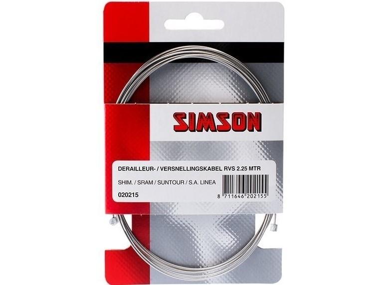 Simson Versnelling Binnenkabel derailleur RVS 2.25mtr 020215