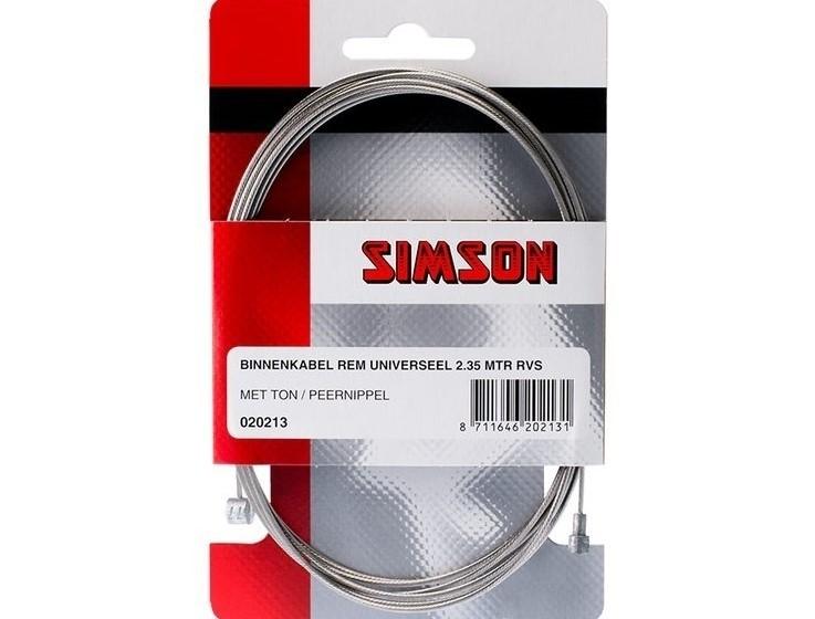 Simson Rem Binnenkabel universeel 2.35mtr RVS 020213