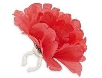 Basil Flower Pioenroos koraal losse bloem