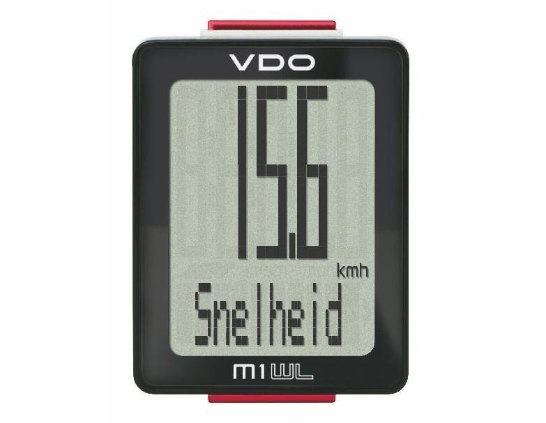Fietscompoter VDO M1.1 WL draadloos calorieen meting