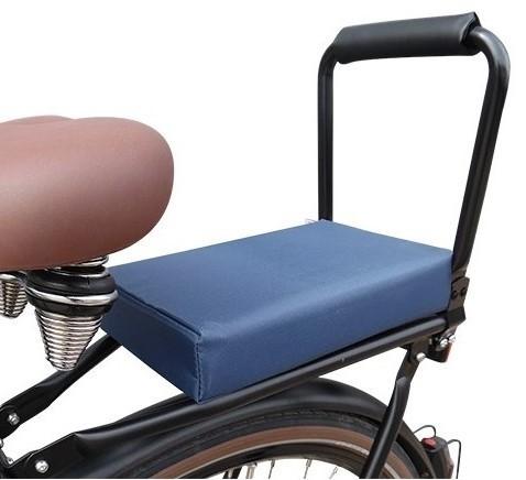Flo en Zo fietskussen kobalt blauw