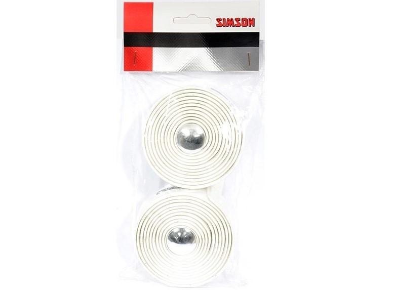 Fietsstuurlint 021815 Simson Tape Gel Wit