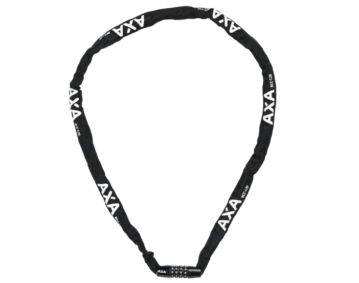 AXA kettingslot Rigid RCC zwart 120cm/3.5mm in hoes