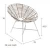 Afbeelding van Kubu round chair