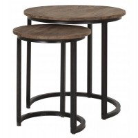 Foto van Side table round high, set of 2 FD