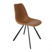 Franky chair cognac 2 stuks