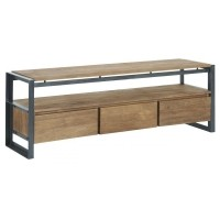 Foto van Tv stand, 3 drawers, 1 open rack 180 cm