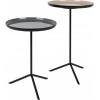Side table trip set of 2 enamel