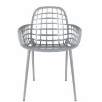 Albert Kuip garden stoel - grijs (set van 2)