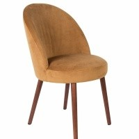 Barbara chair camel - set van 2