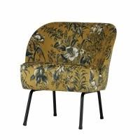 Foto van Voque fauteuil fluweel poppy mosterd
