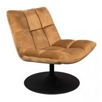 Foto van Bar fauteuil velvet goud bruin