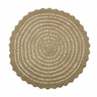 Foto van Corn circle vloerkleed crochet naturel 150cm
