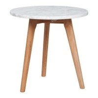 Foto van Side table white stone M