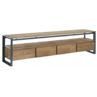 Foto van Tv stand, 4 drawers, 1 open rack 200 cm