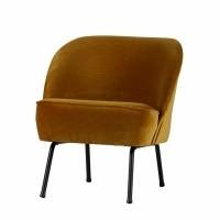 Foto van Voque fauteuil fluweel mosterd