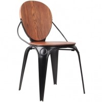 Foto van Chair Louix antique/black (set van 2)