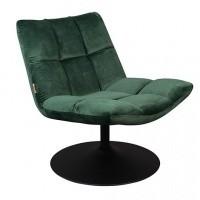 Foto van Bar fauteuil green velvet