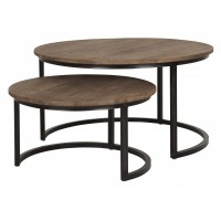 Foto van Side table round low, set of 2
