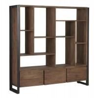 Foto van Bookcase low, 3 drawers, 10 open racks