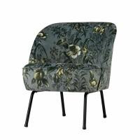 Foto van Voque fauteuil fluweel poppy grijs