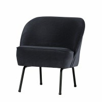 Foto van Voque fauteuil fluweel inkt