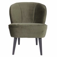 Foto van Sara fauteuil fluweel warm groen