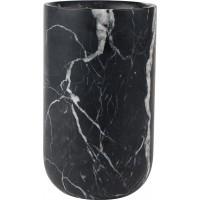 Foto van Vase fajen marble black