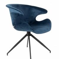 Armchair Mia blue - set van 2