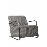 Adwin fauteuil zwart/wit