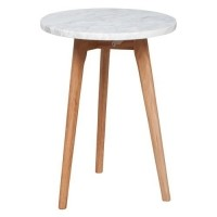 Foto van Side table white stone S