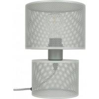 Foto van Table lamp grid grey