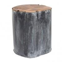 Foto van Metal teak deco table