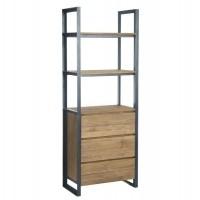 Foto van Bookcase high, 3 drawers, 3 open racks