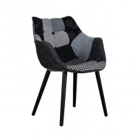 Foto van Armchair Twelve patchwork grey (set van 2)