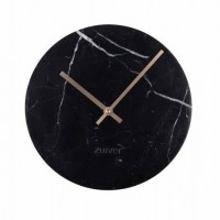 Foto van Clock marble time black