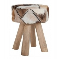 Foto van Stool billy, goat skin
