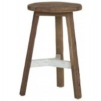 Foto van Round stool pol, white
