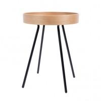 Foto van Side table oak Tray