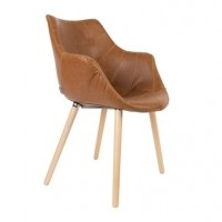 Foto van Armchair Twelve LL brown (set van 2)